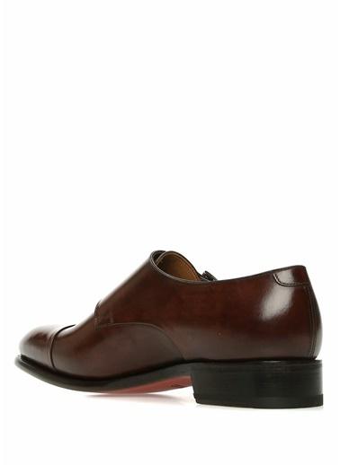 %100 Deri Çift Tokalı Klasik Ayakkabı-Santoni